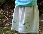 Custom Vintage Pillowcase Skirt - Your Choice of Pillowcase and Size (2t -7)