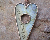 Wisconsin Heart Necklace