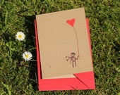 I give you my heart romantic card recycled eco friendly