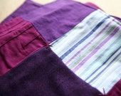 Upcycled table runner in purples for the Erica Range