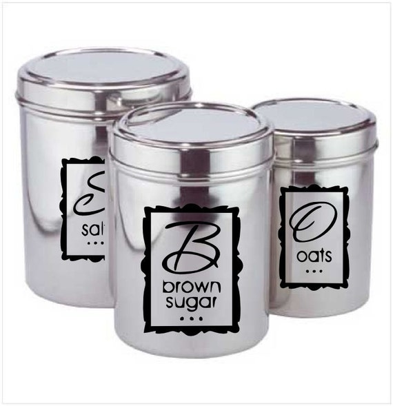 kitchen canister labels kitchen canister labels set of 12 labels by wallscripted on etsy 1504