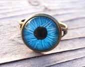 Light Blue Evil Eye Ring