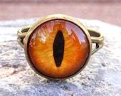 Orange Evil Eye Ring