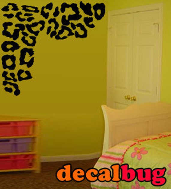 items similar to fabulous leopard print decor wall decal on etsy