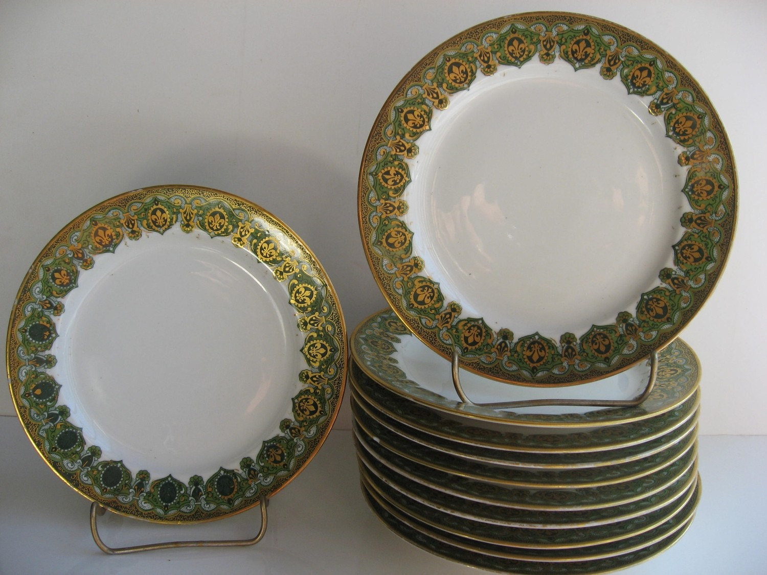 antique set of limoges j pouyat dishes. Black Bedroom Furniture Sets. Home Design Ideas