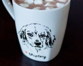 RESERVED for freshlygroundpepper - Custom Hand Drawn Dog Portrait Mug