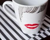 Flapper Hand Drawn Art Mug