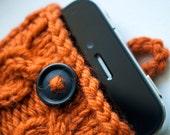 Autumn Orange Double Cable Knit iPhone Case (3/4/4S Gen models)