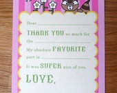 Thank You Notes for Kids - Fill in the Blank