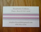 Mommy Cards - Ribbon Information Cards for exchanging with other moms - Set of 20