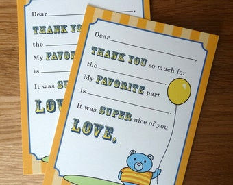 Thank You Notes for Kids...Fill in the Blank