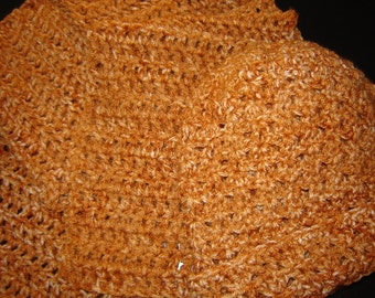Crochet Scarf & Hat    FREE SHIPPING