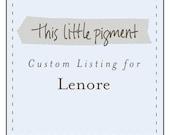Custom Listing for Lenore