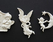 Polymer Clay   Victorian Angels Set