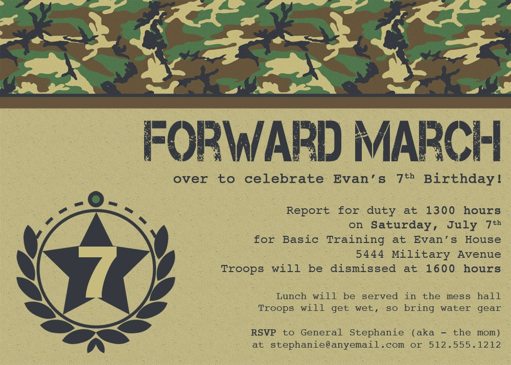 Forward March Or Sound Off Military Birthday By