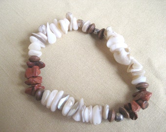 Red and white chip bracelet