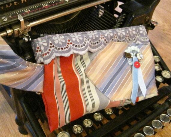 Ravonne Vintage Tie Wristlet in yellow, red, blue, mint, vintage lace, & dainty trinkets