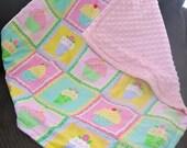 Baby Cupcake Pink Quilt Blankie