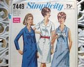 années 1960 simplicité 7449 demi-taille Dress Pattern