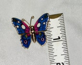 24K Gold Layered Butterfly Pin or Pendant - Vintage