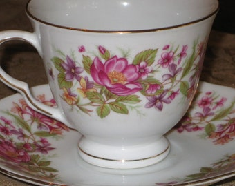 Tea Time Vintage Cup and Saucer