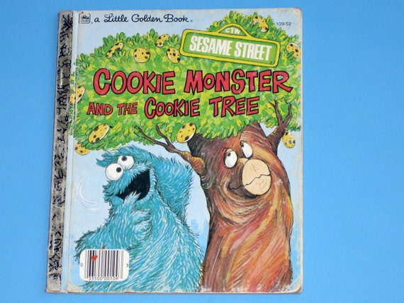 Seesame Street Cookie Monster and the Cookie Tree Little Golden Book