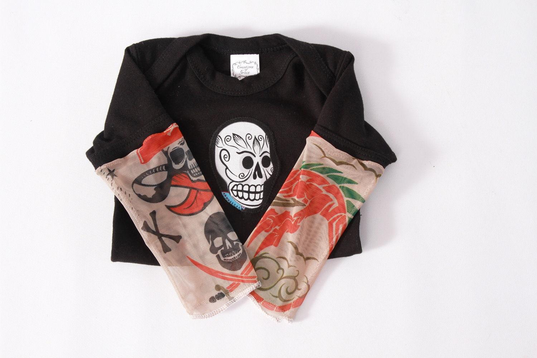 Shirt Sleeve Tattoo: Children's Tattoo Sleeve Shirt With Tattoo By