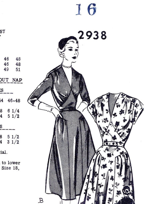 SALE 25%OFF Coupon: MOVING2012  Mail Order 2938 Bust 34 Misses Day or Evening Dress c 1950s or 1940s UNCUt