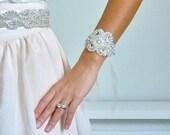 Bridal rhinestone bracelet, bridesmaid gift, bridesmaid bracelet, crystal bracelet, bridal cuff, jeweled bracelet - ships in 1 week