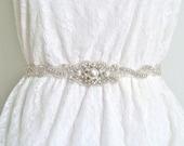 Pearl bridal sash, pearl wedding belt, beaded pearl sash, beaded pearl belt, pearl wedding sash, crystal pearl sash - RACHEL IV