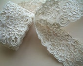 Reserved Listing for  aisha425 ON SALE- Beautiful Corded Lace in Ivory