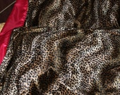 Leopard, Stars and Skulls, Minky & Satin Blanket