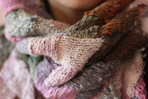 RESERVED for Bee Painted Desert wrap - olive, cream, rust, pink, blue