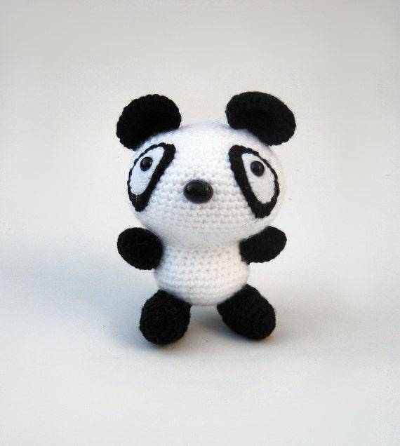 Kawaii Panda Amigurumi : Items similar to Amigurumi panda bear crochet handmade ...
