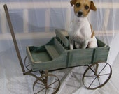 Vintage Rusty Wheels Wood Wagon - FREE SHIP USA