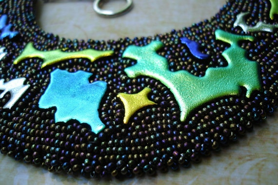 Beaded Embroidery Necklace Dicro Dance