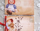 Raggedy Ann Gift Hang Tag - Set of 2