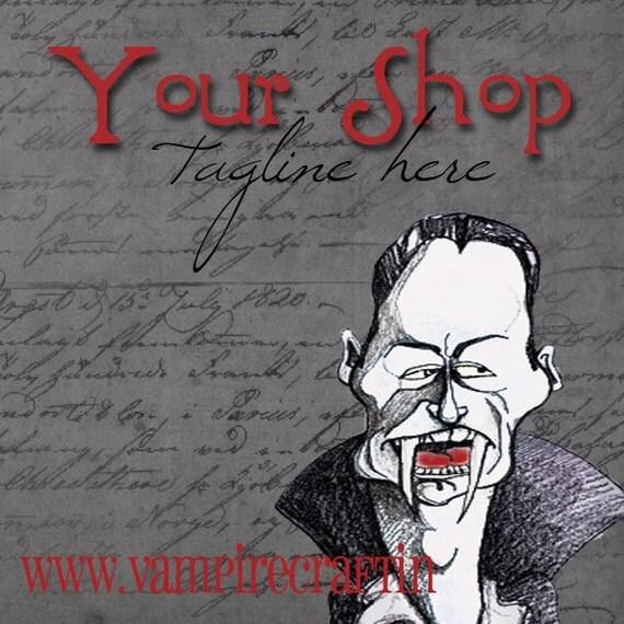 Vampire Etsy Shop Set