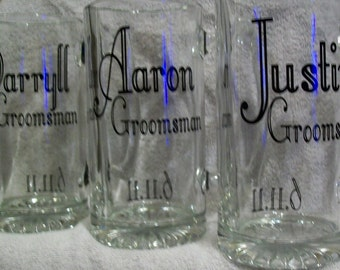 Personalized Beer Mugs...Set of 6