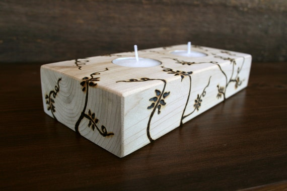 Love Entwined - Tealight Holder - Reclaimed Wood