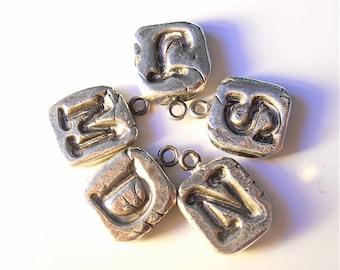 Personalized Silver Initial Charm  Wax Seal Jewelry, Sterling Charm Bracelet, Jewellery, yourdailyjewels