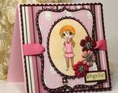Handmade Card - Greeting Card - Angelic -  OOAK