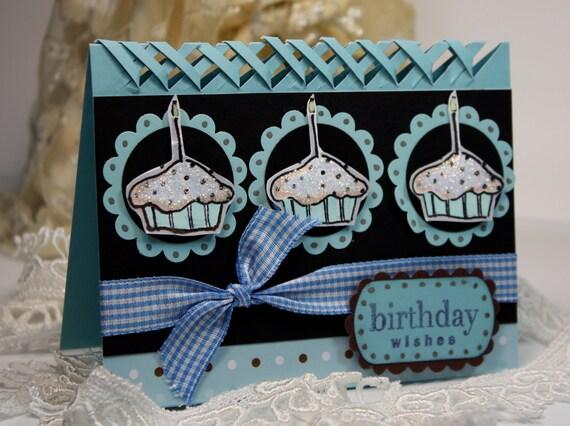 Handmade Card -  Birthday Card - Greeting Card - Birthday Wishes -  OOAK