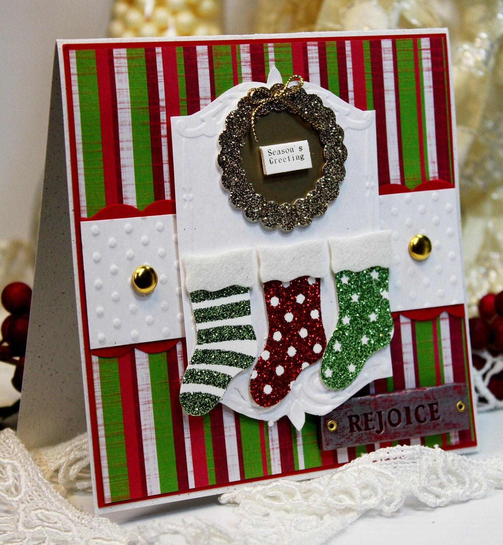 christmas card handmade greeting card season's
