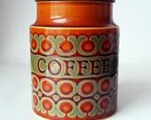 Hornsea 1977 Coffee Storage / Bote para el cafe Hornsea del año 1977