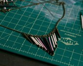 Purple Fringe Porcupine Quill Necklace