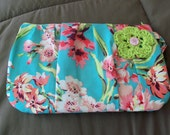 Pleated Flower Clutch -  Ready to Ship