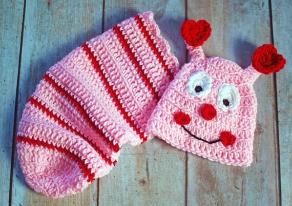 Love Bug - Crochet hat and Cacoon