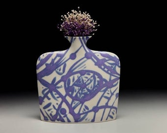 Medium porcelain slab flower vase = item #02-V2