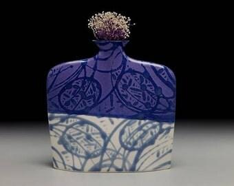 Large porcelain slab flower vase = item #03-V8